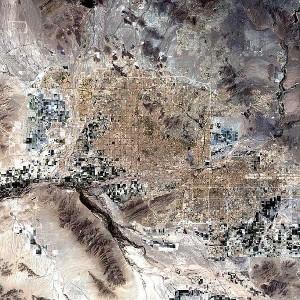 Sattelite image of Phoenix, AZ