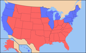Red State-Blue State map