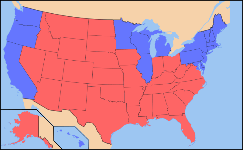 American Dialects A Red StateBlue State Divide Dialect Blog - Accent map of us